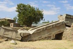 Obeliskar för UNESCOvärldsarv av Axum, Etiopien Arkivfoton