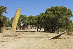 Obeliskar för UNESCOvärldsarv av Axum, Etiopien Royaltyfri Foto