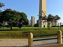 Obelisken av Ibirapueraen parkerar arkivfoto