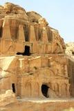 Obeliskgravvalv i Petra, Jordanien Arkivfoton