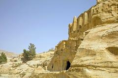 Obeliskgravvalv & Tricliniumen, Petra, Jordanien Royaltyfri Fotografi