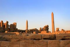 Obeliski przy Karnak świątynią, Egipt obrazy royalty free