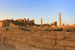 Obeliski przy Karnak świątynią, Egipt fotografia stock