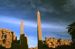 Obelisks bei Karnak Stockbild
