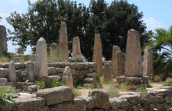 Obelisks, Byblos (Lebanon) Stock Images