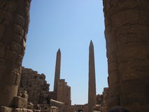 Obelisks at Karnak Temple in Egypt Royalty Free Stock Image