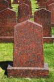 Obelisks of red granite at the military memorial Stock Images