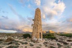Obelisktorn på sonen Serra de Marina Fotografering för Bildbyråer