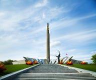 Obelisku bohatera miasto Minsk w Białoruś Zdjęcia Stock