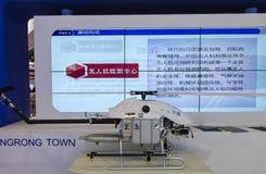 Obemannat flyg- medel i Chengdu innovation 2016 och egenföretagandemässa Royaltyfri Fotografi
