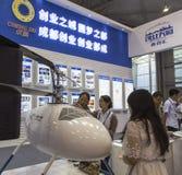Obemannat flyg- medel i Chengdu innovation 2016 och egenföretagandemässa Royaltyfri Foto