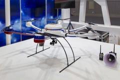 Obemannat flyg- medel i Chengdu innovation 2016 och egenföretagandemässa Arkivbild