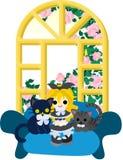 Oben ankleiden mit Kätzchen Stockbilder
