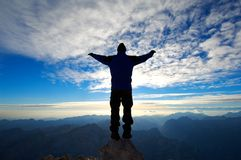 Oben auf den Berg Lizenzfreie Stockfotografie