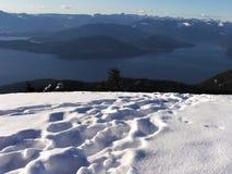 Oben auf den Berg Stockbild