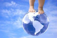 Oben auf die Welt Stockbilder