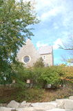 Oben in einem Zug schauen: Die Ansicht eines Naiven von Kumler-Kapelle an Miami-Universität stockfotos