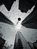 Oben schauen in Hong Kong Stockbild