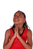Oben schauen, wie sie betet Stockfotos