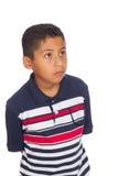 Oben schauendes und denkendes Kind Stockfotos