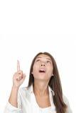 Oben zeigen und schauen Lizenzfreies Stockfoto