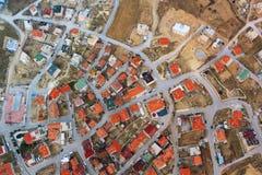 Obenliegende Ansicht der Stadt in Cappadoccia Lizenzfreies Stockbild
