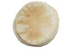 Obenliegende Ansicht des pita Brotes Lizenzfreie Stockfotos