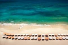 Obenliegende Ansicht des Strandes Stockbilder