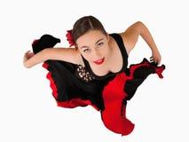 Obenliegende Ansicht des weiblichen Tänzers lizenzfreies stockbild