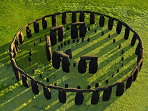 Obenliegende Ansicht von Stonehenge Stockbilder