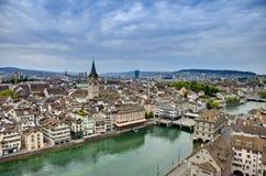 Obenliegende Ansicht von Zürich Lizenzfreie Stockfotografie