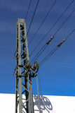 Obenliegende Kontaktleitungen Lizenzfreie Stockbilder