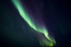 Obenliegendes Nord Leuchte-einige Geräusche Lizenzfreie Stockfotografie