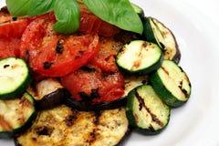 oberżyna piec na grillu veggies Obrazy Royalty Free