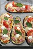 Oberżyny pizza obraz royalty free