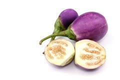Oberżyny warzywo na białym tle fotografia stock