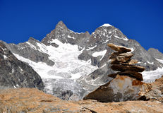 Ober Gabelhorn. Beautiful mountain Ober Gabelhorn-Swiss Alps royalty free stock photography