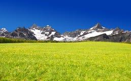 Ober Gabelhorn e Zinalrothorn Imagem de Stock