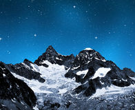 Ober Gabelhorn. In night - Swiss Alps stock photo