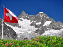 Ober Gabelhorn - Swiss. Beautiful mountain Ober Gabelhorn - Swiss alps royalty free stock photos