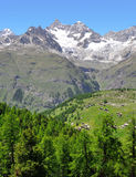 Ober Gabelhorn - Swiss alps. Beautiful mount Ober Gabelhorn - Swiss alps stock photo