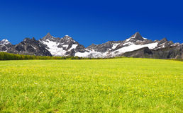 Ober Gabelhorn and Zinalrothorn. Beautiful mountain Ober Gabelhorn and Zinalrothorn - Swiss alps stock image