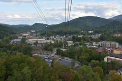 Ober Gatlinburg i i stadens centrum Gatlinburg i Tennessee Royaltyfria Foton