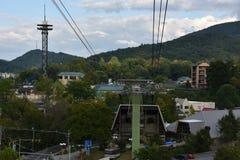 Ober Gatlinburg w w centrum Gatlinburg w Tennessee Obraz Royalty Free