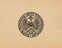 Ober Ost German Reich eagle ww2. Oberbefehlshaber Ober Ost German reich eagle ww2 Royalty Free Stock Image