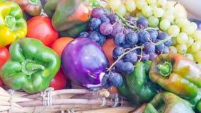 Oberżyna pieprzy winogrona Obraz Stock