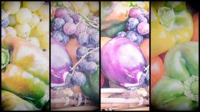 Oberżyna pieprzy winogrona Fotografia Stock