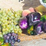 Oberżyna pieprzy winogrona Zdjęcie Royalty Free