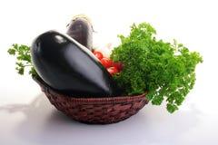 oberżyna pomidory Zdjęcia Stock