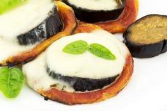 oberżyny mozzarelli pizza Obrazy Stock